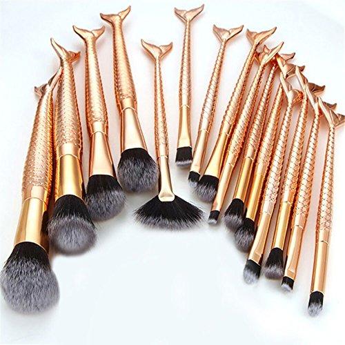 6 10 11 15 PCS Makeup Foundation Augenbrauen Eyeliner Erröten Kosmetische Concealer Pinsel Pinsel Diamant Form Kosmetische Werkzeuge (15PCS)