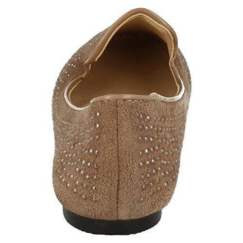 Spot On , Ballerines pour fille Taupe