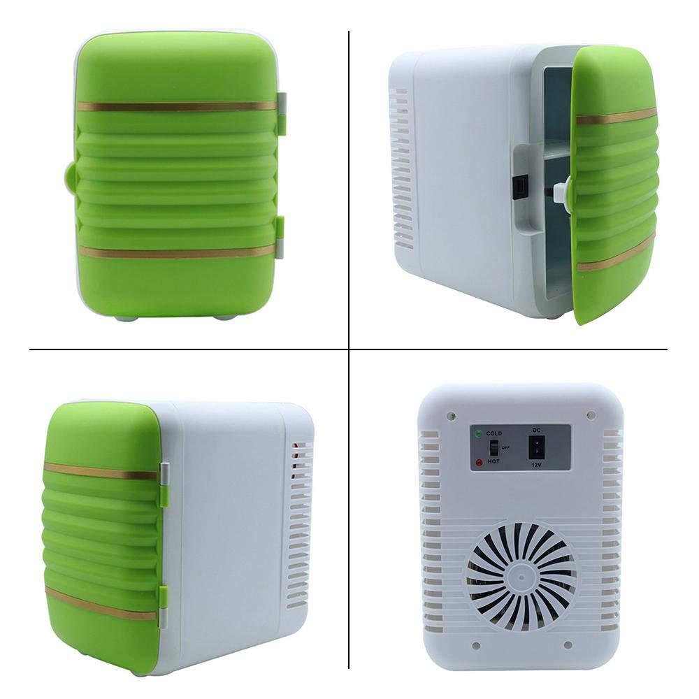 Hamkaw Mini Car Fridge, Piccolo Frigorifero da 4 Litri con congelatore -  Frigorifero Elettrico Compatto da 12 V e Frigorifero da Viaggio per Auto,  ...