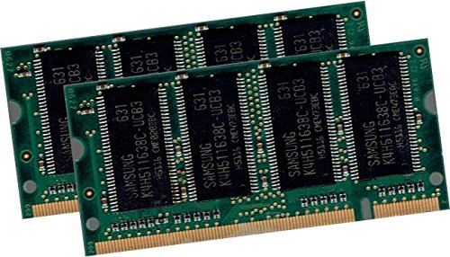 1GB Dual Channel Kit SAMSUNG original 2 x 512MB 200 pin DDR-333 (PC-2700, 333Mhz, CL2.5) SO-DIMM double side (M470L6524DU0-CB3) für NOTEBOOKs - 100% kompatibel zu DDR-266 (PC-2100, 266Mhz, CL2.5) - Samsung 512 Mb