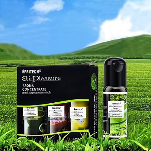 APRITECH® olio essenziale Di Altissima Qualità, Aromaterapia oli essenziali Umidificatore Oli Kit, Puri Al 100{7a66fe6a8ba84bcf50052b6fc69cbdd634c53d2298fb3a17604086df4af0452d} essential oil 3x15ml (Albero del té + rosa bulgara +Limone)