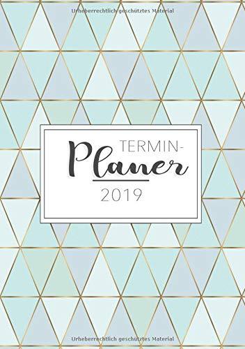 Terminplaner 2019: Dein Terminkalender A5 und Planer für das neue Jahr 2019 - Ziele setzten, Pläne machen und deinen Alltag Organisiere (Kalender Monatlichen Planer)