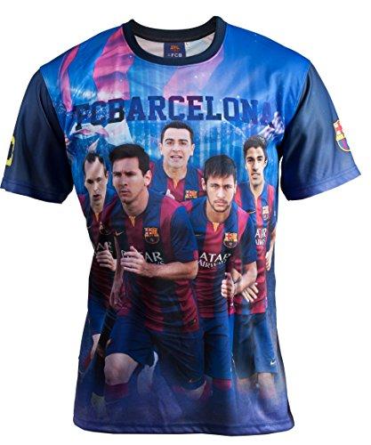 Fc Barcelone Maillot Barça - NEYMAR MESSI SUAREZ XAVI INIESTA - Collection officielle Taille enfant garçon