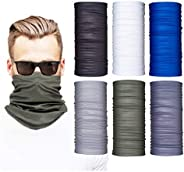 Neck Gaiters for Men and Women, 6-Piece Gaiter Masks, Breathable Microfiber UV Face Shields, Protection Huntin