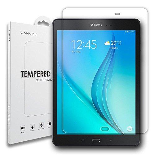 Ganvol kompatibel mit Panzerglas Schutzfolie Samsung Galaxy Tab A T550 T550N 24,6 cm (9,7 Zoll) WiFi 2015 / Tab A 9.7 T555 T555N LTE