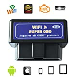 WildAuto Mini Wifi ELM327 Vgate OBD II IOS Scanner Super Icar Wireless Wifi OBD2 Scanner (Schwarz)