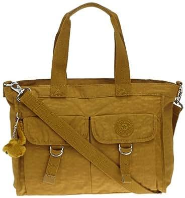 Kipling Women's ELISE Shoulder Bag  Yellow Gelb (Blaze Yellow) Size: 44x27x18 cm (B x H x T)