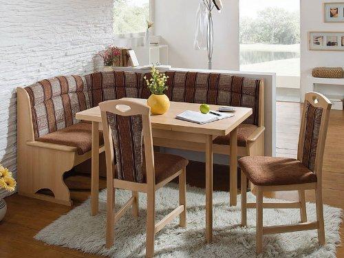 eckbank mit truhe Schösswender Eckbankgruppe Luzern 2 Buche naturfarbig mit Truhe, Vierfusstisch und 2 Stühle