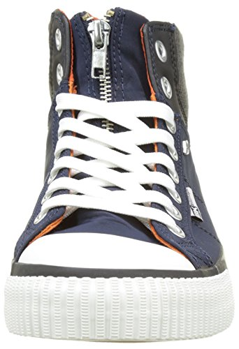 British Knights Opie, Baskets Hautes Mixte Adulte Bleu (navy/dk Grey/orange)