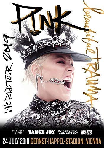 Generic Pink München Olympiastadion Beautiful Trauma 2019 UK Europe World Tour Foto Poster Sänger 030 (A5-A4-A3) - A3 -