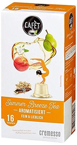 Cafèt für Cremesso Summer Breeze Tea 80 Kapseln - für Cremesso/Delizio Kaffeemaschinen - holen Sie sich den Sommer zurück!