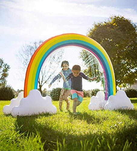 Eyefed Splash Pad Wasserspielzeug Outdoor Sommer Wasserspielzeug, Rainbow Sprinkler--riesiges Wasser-aufblasbares Bogen-Sprinkler-im Freiensommer-Spielwaren für Kinder-Sommer-Spaß-Hinterhof-Spiel für (Haus-aufblasbare)