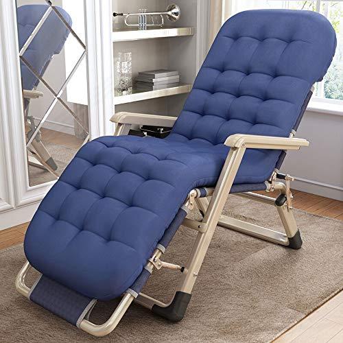 Paddia Freizeitstuhl Multi-Stühle - Angepasste Liegeklappbar, Siesta Lounge Beach Lounge Sonnenliegekissen für Einzelbetten Dickes gepolstertes Liege Relaxer-Stuhl Büroschlaf Sessel Umweltbewertung