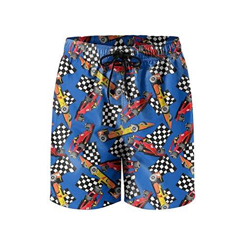 KKONEDS Men's Sports Running Swim Board Shorts with Pocket No Mesh Lining,Personality Beach Shorts Trucks Pants Mens Quick Dry Beach Shorts X-Large (Danskin Running Shorts)
