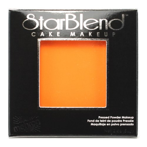 (3 Pack) mehron StarBlend Cake Makeup Orange