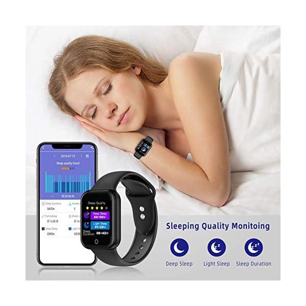 Smartwatch, Reloj Inteligente Mujer Hombre Pulsera de Actividad Inteligente Impermeable IP68 Pulsómetros Podómetro Monitor de para Sueño Calorías, para iPhone Android Xiaomi Samsung Huawei 7