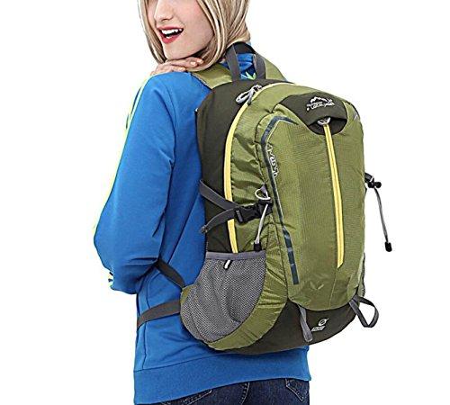 LQABW Moda All'aperto Viaggi Escursionismo Zaino Breathable Wearable Shoulder Bag 20L,ArmyGreen ArmyGreen
