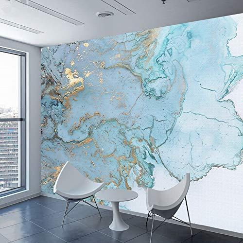 Cucsaistat Wallpaper 3 D Wohnzimmer Gold Blaue Tapete Wandbild Roll Café Tapete Hintergrund Zu Hause
