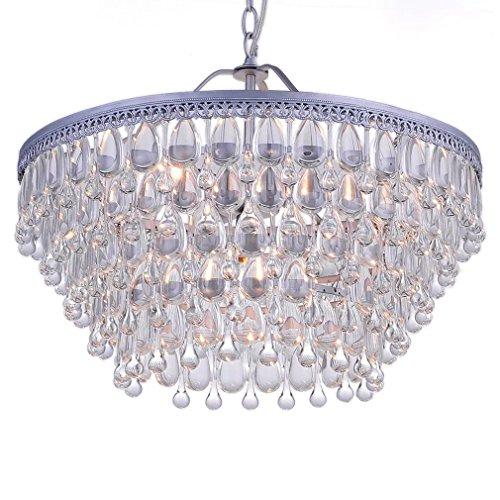 OOFAY Moderne Bauernhaus 6 Lichter Kristall Kronleuchter Wohnzimmer Restaurant Eisen Kunst Leuchte