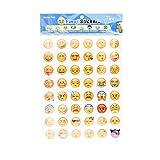 iprotect Pegatinas Emoji Adhesivos Smiley para Decorar el Smartphone, Carcasa, Batería Externa, etc. en Diferentes Motivos
