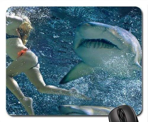 Themed Gaming-Mauspad der Fische, Shark Attack Mouse Pad, ()
