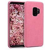 kwmobile Funda para Samsung Galaxy S9 - Case Protector para móvil de Tela - Cover Trasero Rosa Claro