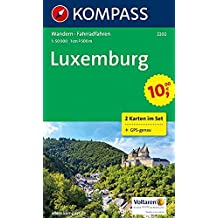 Luxemburg: Wanderkarten-Set mit Radrouten. GPS-genau. 1:50000 (KOMPASS-Wanderkarten, Band 2202)