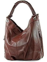 modamoda de - ital Damenhandtasche aus Leder/Nappaleder Z18