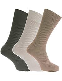 Mens Big Foot Non Elastic Diabetic Socks (3 Pairs)