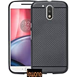 Moto G4 Plus Dotted Designed High Quality Soft Rubberised Back Case Cover - Black
