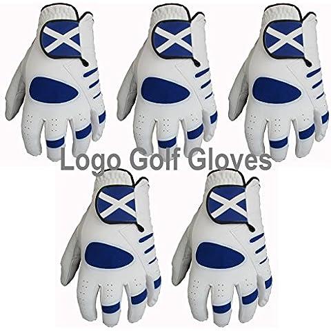 5Scozia Logo palmo in pelle Cabretta Guanti da golf 4–Small Medium Large Gator, M