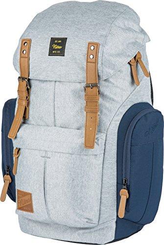 Daypacker Alltagsrucksack im Retro Look mit Gepolstertem Laptopfach, Schulrucksack, Wanderrucksack oder Streetpack, Größe und Schnitt ideal für Frauen, Morning Mist