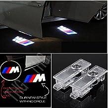 THG CASWLMx2-UK-B - Luces de bienvenida para puerta de coche (4 unidades, led), diseño de logotipo de M3
