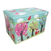 Woodland Jumbo Storage Toy Box for Girls, Multicolour, 48 x 30 x 32 cm