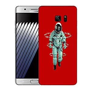 Snoogg Astronaut Designer Protective Back Case Cover For SAMSUNG Galaxy NOTE 7