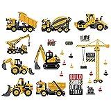 ufengke Vinilos Infantiles Construcción Vehículo Pegatinas Decorativas Pared Adhesivos Tractor Excavadora para Habitaciones Bebe Salon