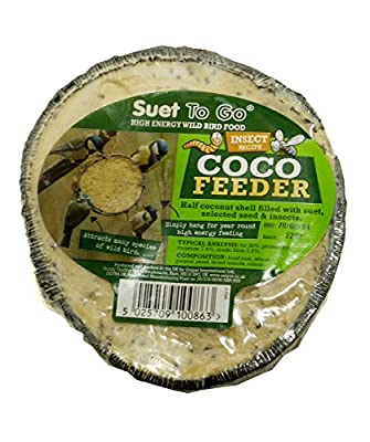 Suet To Go Half Coconut Feeder Insect (Pack of 10) by Unipet