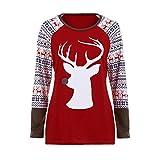 Resplend Pullover Weihnachten,Rundhals Sweatshirt Langarm Plus Size Lange Ärmel Tuniken Oberteil Damen Freizeit Lose Langarmshirts