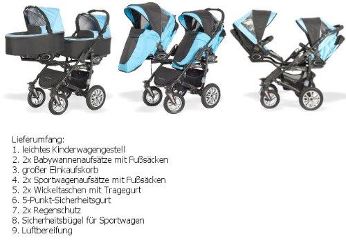 BabyActive Zwillingskinderwagen - 3