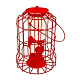 Vivo NEW MODEL Hanging feeder Squirrel Proof Guard Bird Fat Ball Seed Nut feeding GardenTray[Red (Seed)]