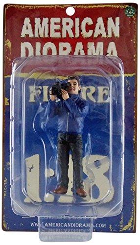 American Diorama–77427–Figur–Camera Man–Echelle 1/18–Blau/Schwarz