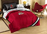 Northwest NCAA Louisville Cardinals Twin Bed in a Bag with Applique Comforter