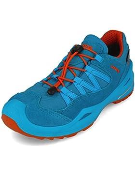 Lowa Zapatos de Cordones de Mezcla de Tejido y Piel Para Niño