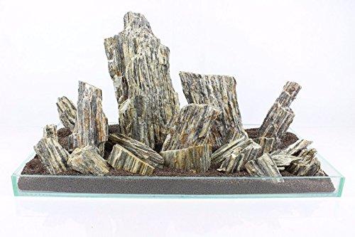 Aquarium Rock Fish Tank Decoration Slate 100% Natural Ideal For Caves WOOD STONE 10kg Set 2