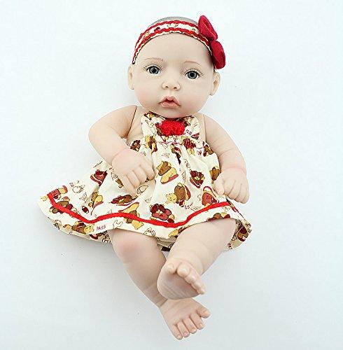 Benutzerdefinierte Halloween Hüte (NPKDOLL Reborn Baby Puppe Harter Silikon 11inch 28cm Wasserdicht Rot Hut Mädchen Doll)