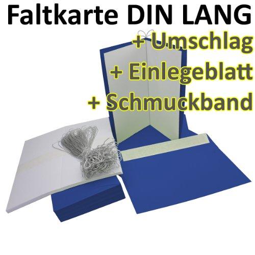 ltkarten + Umschläge + Einlegeblätter + silbernes Schmuckband DIN Lang in Nacht-Blau (Einleger Weiß) // Größe: 21 x 21 cm (gefaltet 10,5 x 21 cm) // 240 g/qm + 110 g/qm // Aus der Serie FarbenFroh von NEUSER! ()
