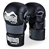 Phantom Herren Gloves-PHMMAG00574-S-S/M Athletics MMA Sparring Gloves riot-Phmmag00574-s-s/m, Black, S/M