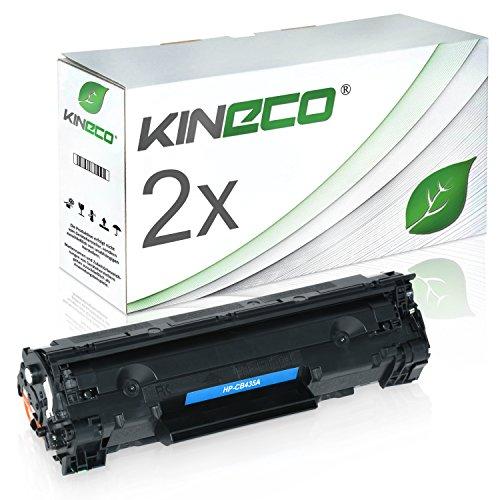 2 Kineco Toner kompatibel zu HP LaserJet CB435A LaserJet P1005, P1006, P1007,...