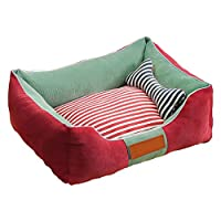 CZLSD Dog Bed Square Bolster Medium And Large Dog Kennel Removable And Washable Seasons Pet Supplies (Size : XL)