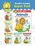 #3: Creative Crayons Super Pack: My First Art Series - A Pack Of 6 Crayon Copy Colour Books